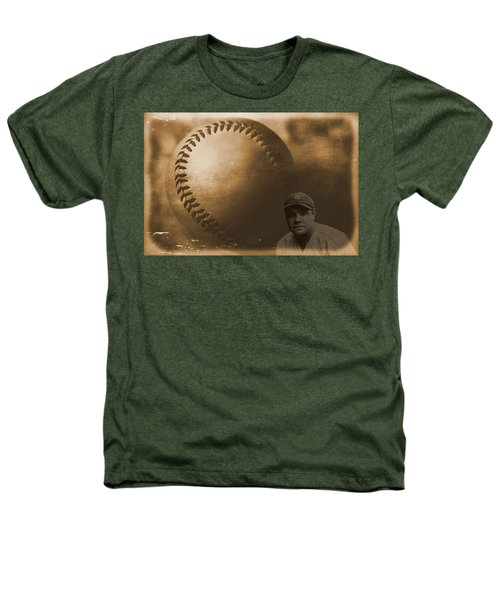 A Tribute To Babe Ruth And Baseball Heathers T-Shirt by Dan Sproul