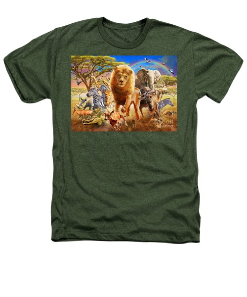 African Stampede Heathers T-Shirt by Adrian Chesterman