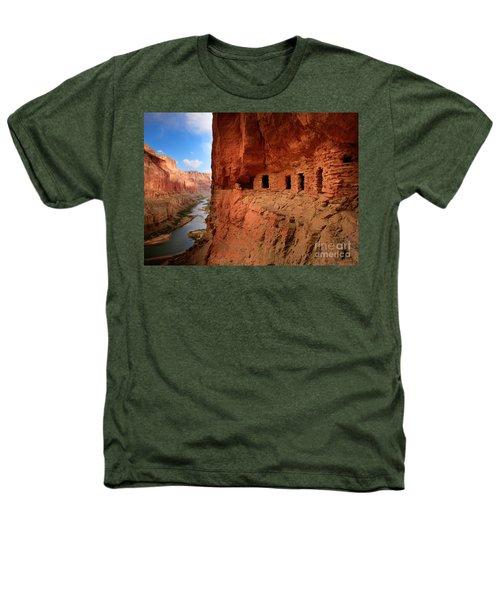 Anasazi Granaries Heathers T-Shirt by Inge Johnsson