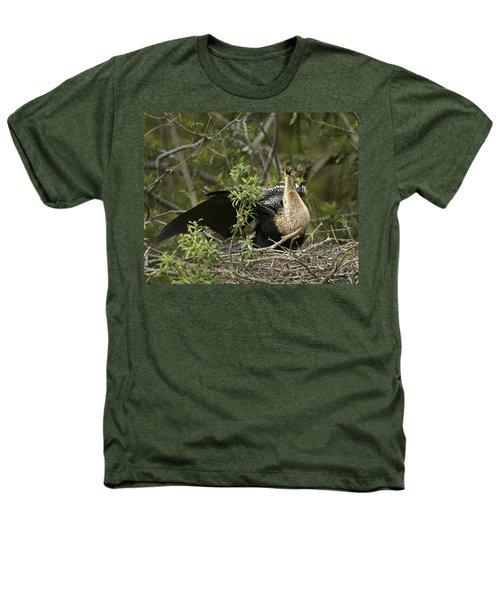 Anhinga Mama Heathers T-Shirt by Phill Doherty