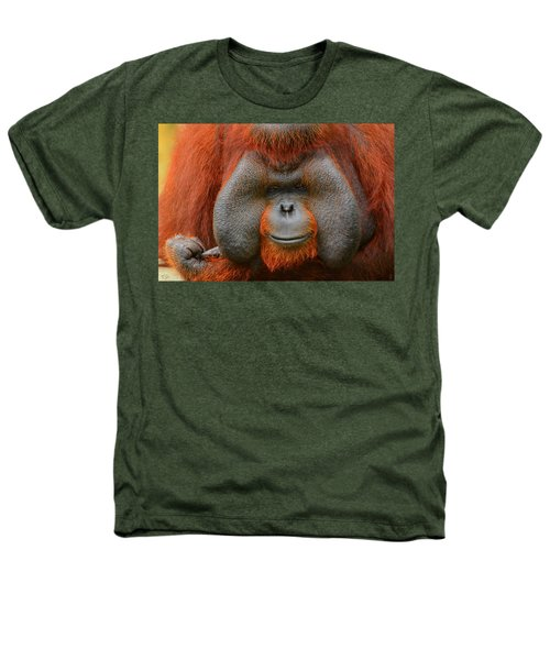 Bornean Orangutan Heathers T-Shirt by Lourry Legarde