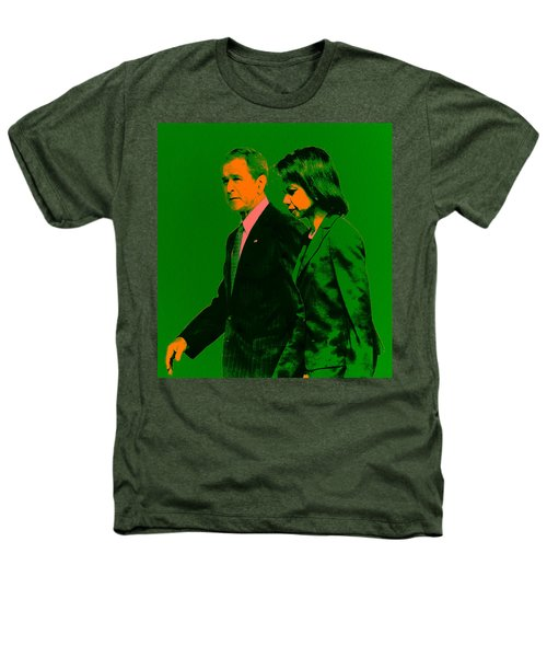 Bush And Rice Heathers T-Shirt by Brian Reaves