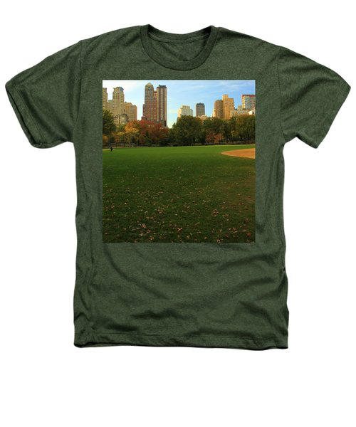 Central Park In Autumn Heathers T-Shirt by Dan Sproul