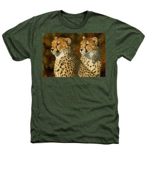 Cheetah Brothers Heathers T-Shirt by David Stribbling