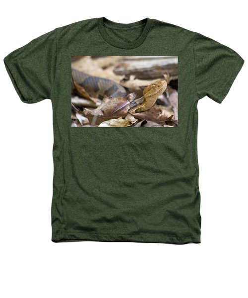 Copperhead In The Wild Heathers T-Shirt by Betsy Knapp