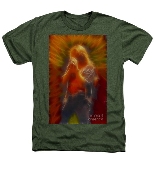 Def Leppard-adrenalize-joe-gb20-fractal Heathers T-Shirt by Gary Gingrich Galleries