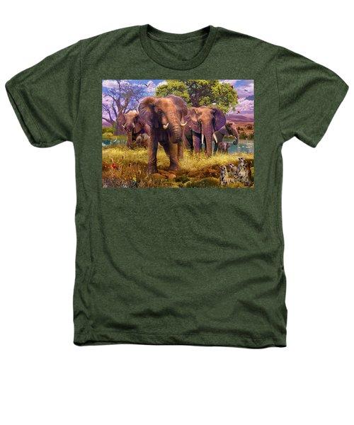 Elephants Heathers T-Shirt by Jan Patrik Krasny