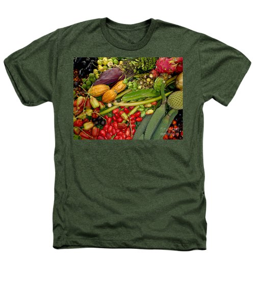 Exotic Fruits Heathers T-Shirt by Carey Chen