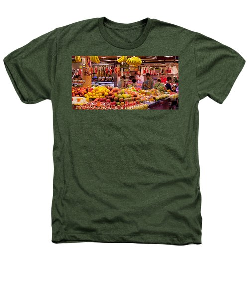 Fruits At Market Stalls, La Boqueria Heathers T-Shirt by Panoramic Images