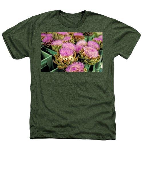 Germany Aachen Munsterplatz Artichoke Flowers Heathers T-Shirt by Anonymous