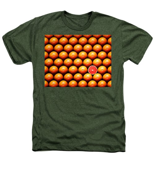 Grapefruit Slice Between Group Heathers T-Shirt by Johan Swanepoel
