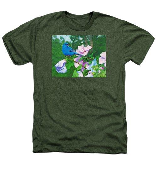 Indigo Bunting  Heathers T-Shirt by Ken Everett