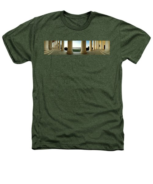 Jefferson Memorial Washington Dc Heathers T-Shirt by Panoramic Images
