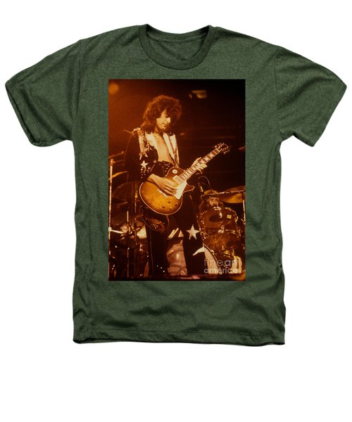 Jimmy Page 1975 Heathers T-Shirt by David Plastik