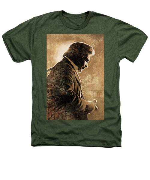Johnny Cash Artwork Heathers T-Shirt by Sheraz A