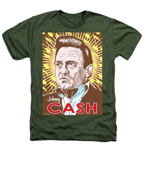 Johnny Cash Pop Art Heathers T-Shirt by Jim Zahniser