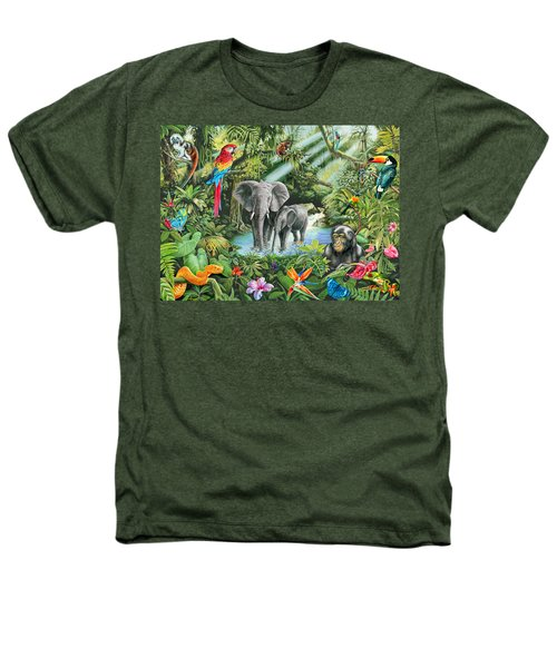 Jungle Heathers T-Shirt by Mark Gregory