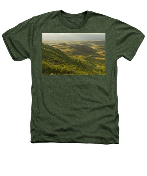 Killdeer Badlands In East Block Of Heathers T-Shirt by Dave Reede