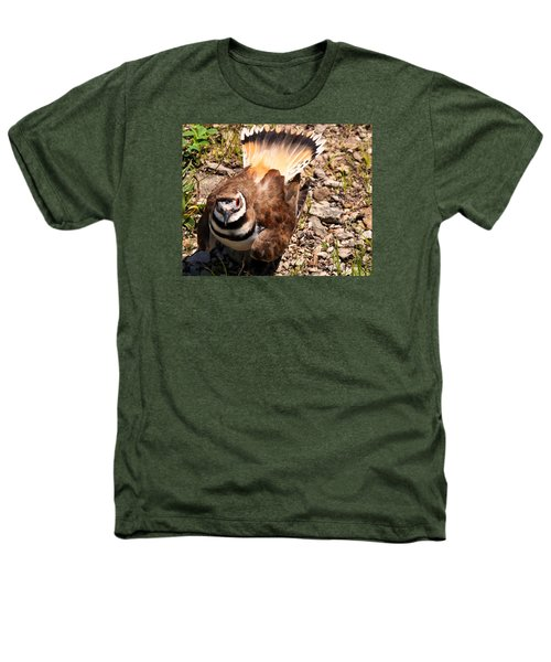 Killdeer On Its Nest Heathers T-Shirt by Chris Flees