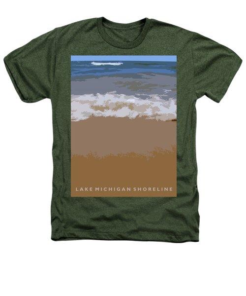 Lake Michigan Shoreline Heathers T-Shirt by Michelle Calkins