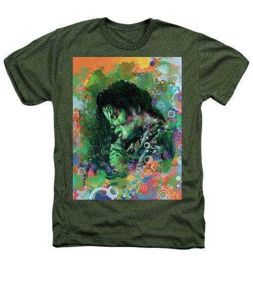 Michael Jackson 15 Heathers T-Shirt by Bekim Art
