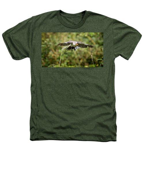 Mockingbird In Flight Heathers T-Shirt by Bill Wakeley