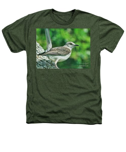 Mockingbird Pose Heathers T-Shirt by Deborah Benoit