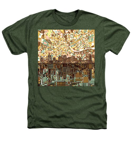 Nashville Skyline Abstract 4 Heathers T-Shirt by Bekim Art