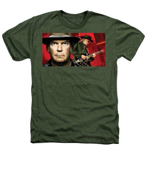 Neil Young Artwork Heathers T-Shirt by Sheraz A