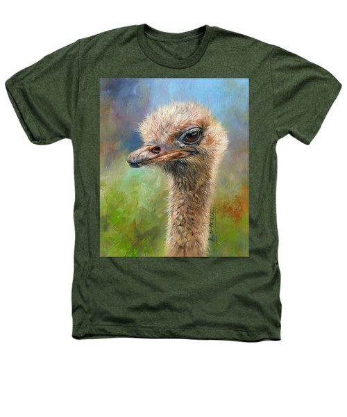 Ostrich Heathers T-Shirt by David Stribbling