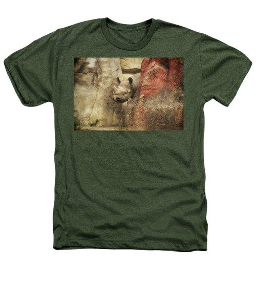 Peek A Boo Rhino Heathers T-Shirt by Thomas Woolworth