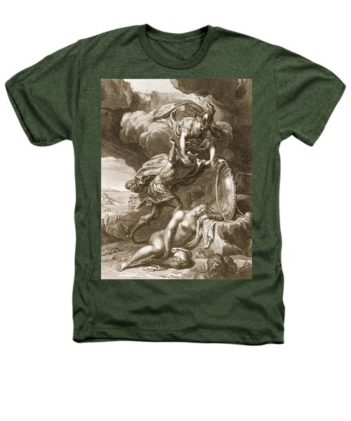 Perseus Cuts Off Medusas Head, 1731 Heathers T-Shirt by Bernard Picart