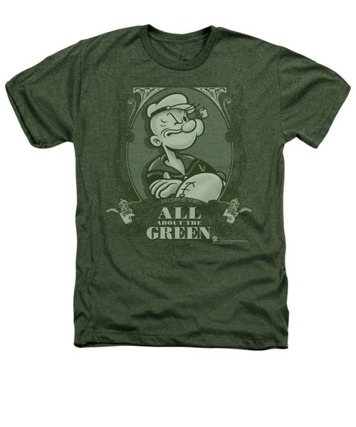 Popeye - All About The Green Heathers T-Shirt by Brand A