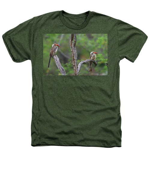 Red-billed Hornbills Heathers T-Shirt by Bruce J Robinson