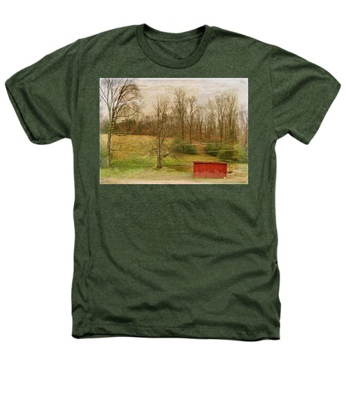 Red Shed Heathers T-Shirt by Paulette B Wright