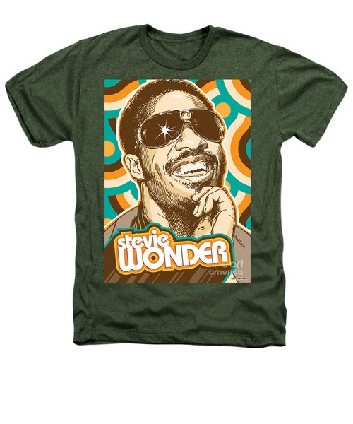 Stevie Wonder Pop Art Heathers T-Shirt by Jim Zahniser