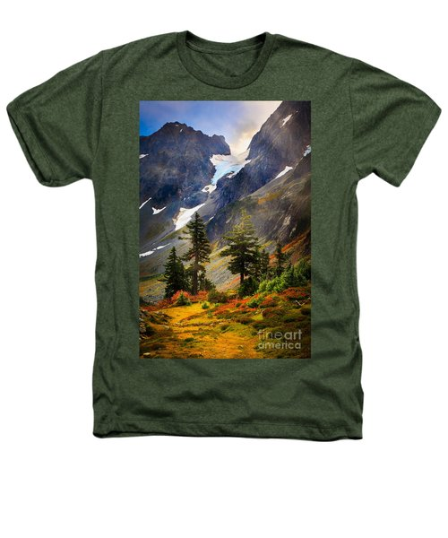 Top Of Cascade Pass Heathers T-Shirt by Inge Johnsson