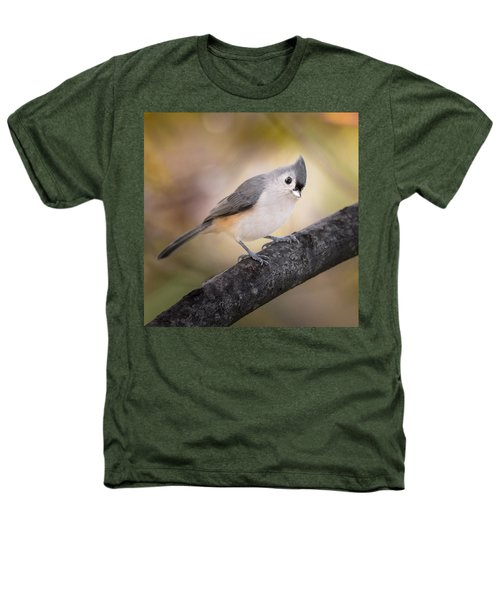 Tufted Titmouse Heathers T-Shirt by Bill Wakeley