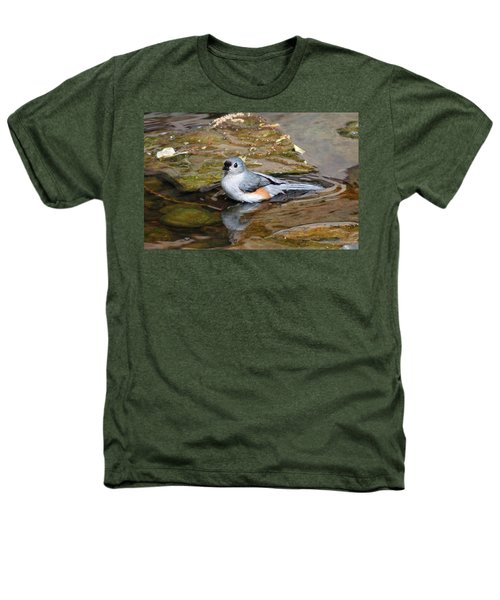 Tufted Titmouse In Pond Heathers T-Shirt by Sandy Keeton
