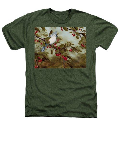 Tufted Titmouse Heathers T-Shirt by Rick Bainbridge