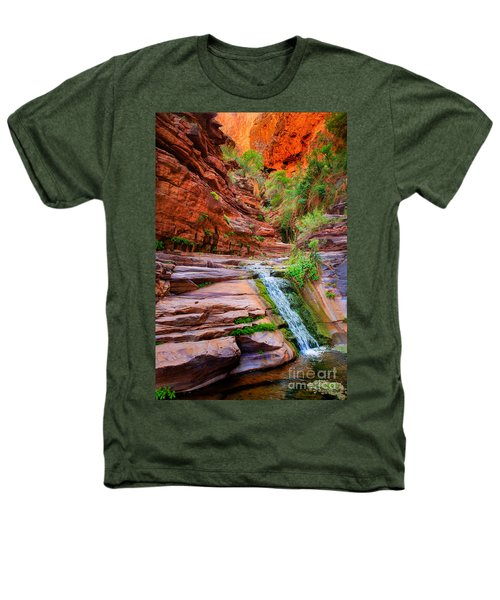 Upper Elves Chasm Cascade Heathers T-Shirt by Inge Johnsson