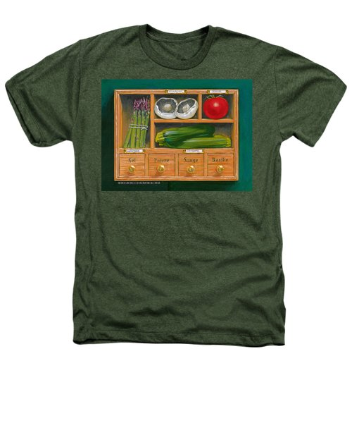 Vegetable Shelf Heathers T-Shirt by Brian James