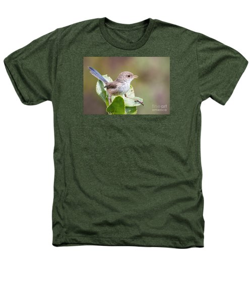White Winged Fairy Wren Heathers T-Shirt by Kym Clarke