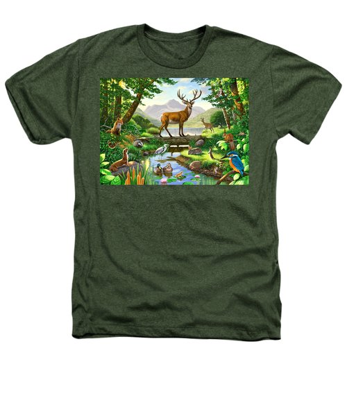 Woodland Harmony Heathers T-Shirt by Chris Heitt