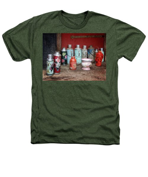 Yak Butter Thermoses Heathers T-Shirt by Joan Carroll