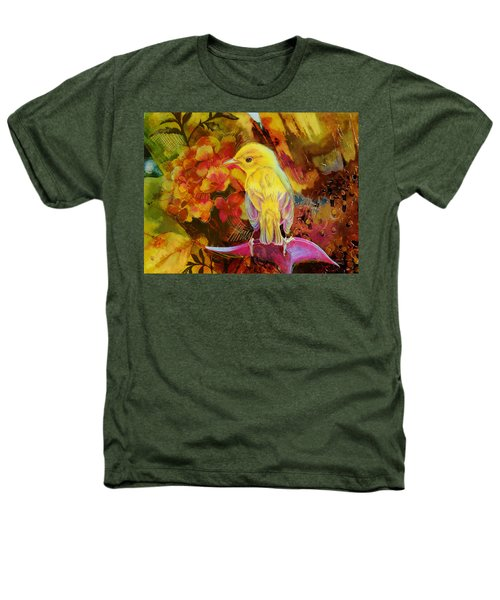 Yellow Bird Heathers T-Shirt by Catf