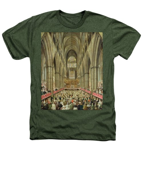 An Interior View Of Westminster Abbey On The Commemoration Of Handel's Centenary Heathers T-Shirt by Edward Edwards
