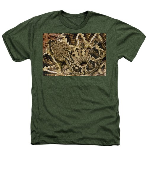 Eastern Diamondback Rattlesnake Heathers T-Shirt by Gerry Ellis