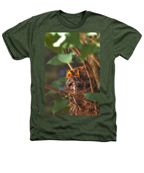 Feeding Time Heathers T-Shirt by Joann Vitali