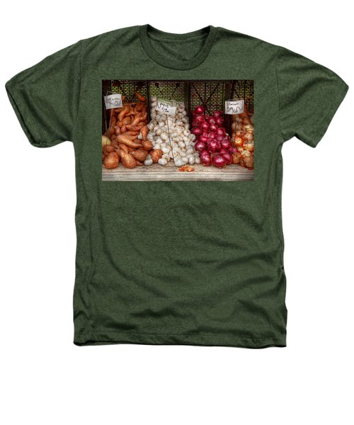 Food - Vegetable - Sweet Potatoes-garlic- And Onions - Yum  Heathers T-Shirt by Mike Savad